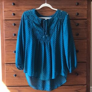 Turquoise Blouse With Matching Camisole